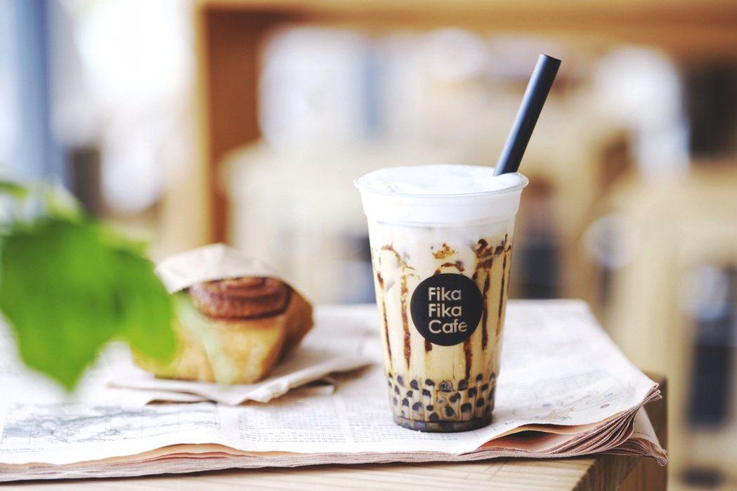黑糖珍珠奶啡。圖/Fika Fika Cafe提供