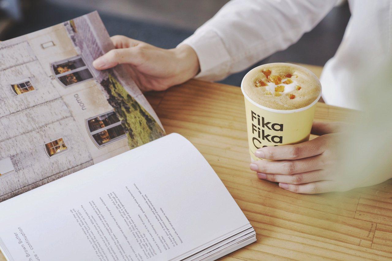 蜜漬橙香拿鐵。圖/Fika Fika Cafe提供