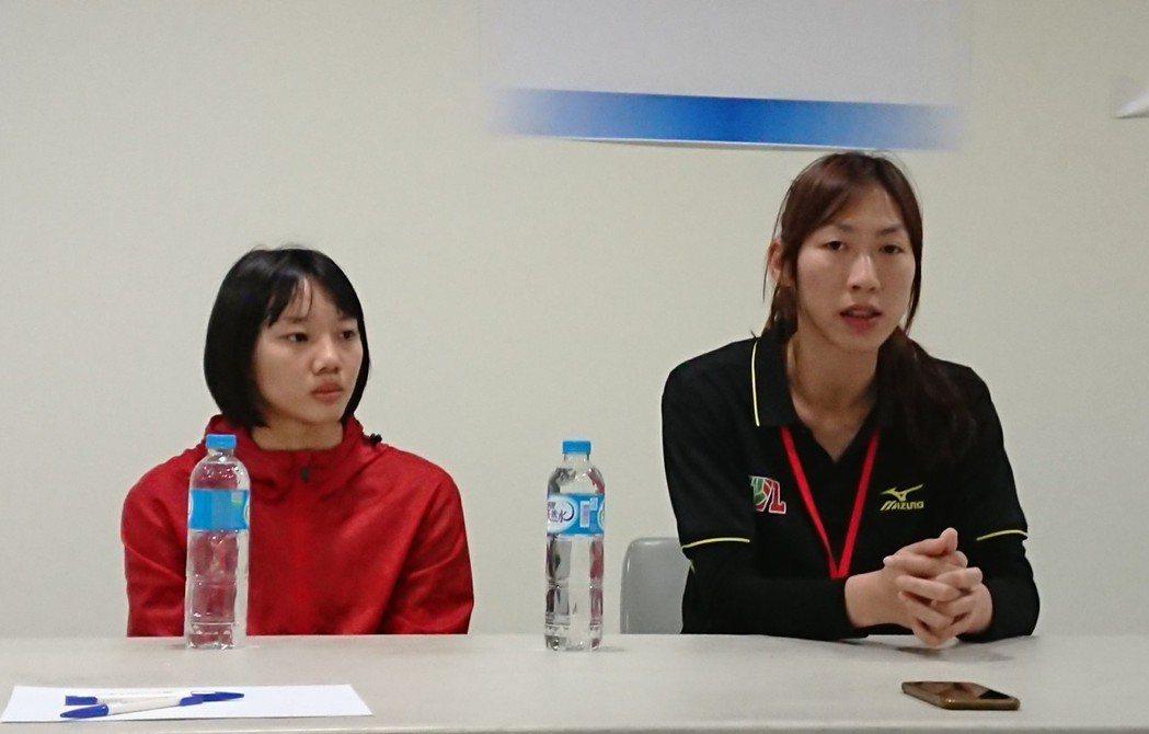 林靜怡(右)。記者 吳思儀/攝影