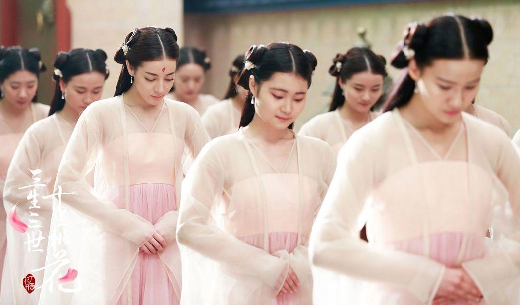 迪麗熱巴在「三生三世十里桃花」中為愛假扮成宮女。圖/中天提供