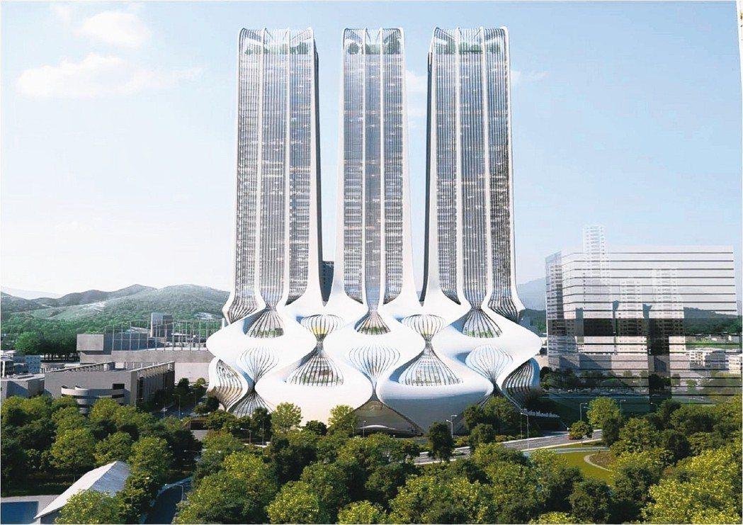 新店「裕隆城」3D建築外觀模擬示意圖。 (網路照片)