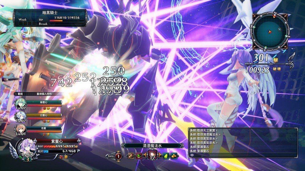 遊戲後期加入的四女神每一隻都強到破表,一發大招可讓頭目蒸發。