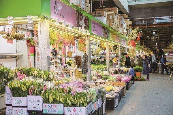 台北市有多處花市,是民眾選購花材、植栽的好去處。(攝影/劉德媛)