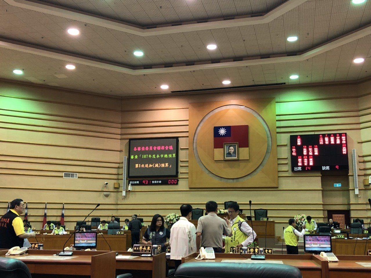 嘉義市議會今天上午9點30分開臨時會,由於已有會前會的默契,會議進行約30分鐘即...