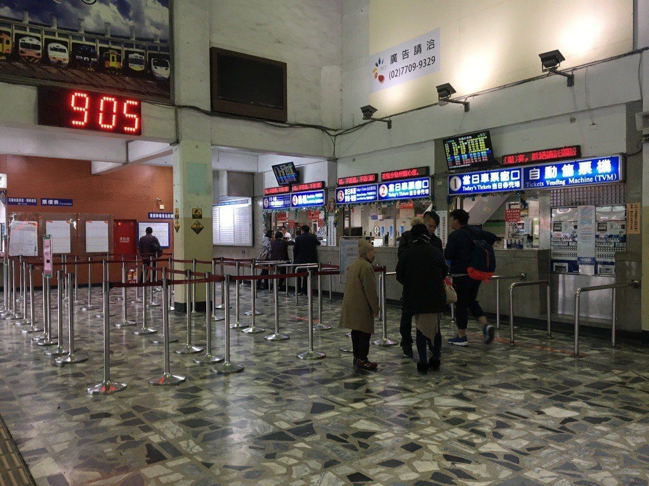 花蓮地震發生後觀光受到影響,花蓮火車站也出現空蕩蕩的狀況。圖/本報資料照片