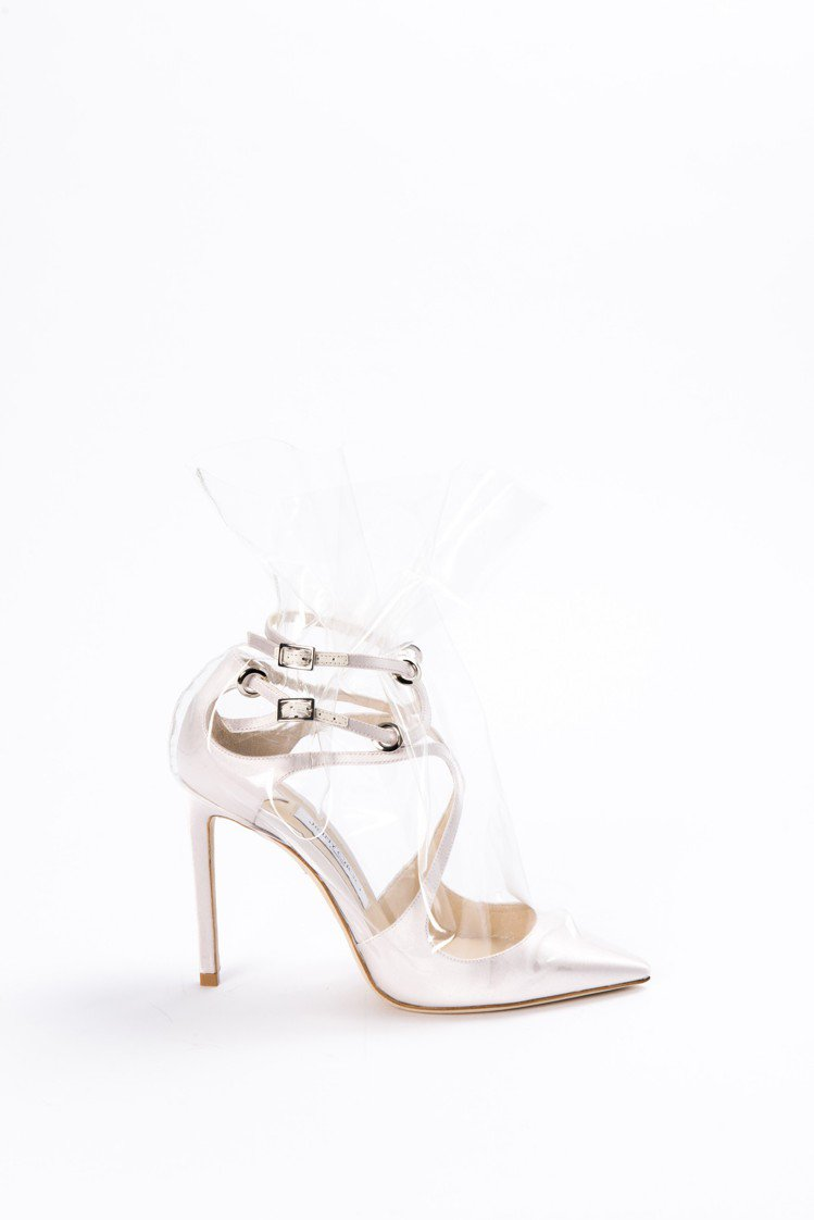 Jimmy Choo與Off-White聯名系列Claire透明袋高跟鞋,42,...