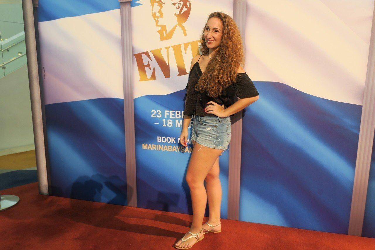 有阿根廷血統的艾瑪金斯頓很榮幸能主演「艾薇塔」。記者蘇詠智/攝影