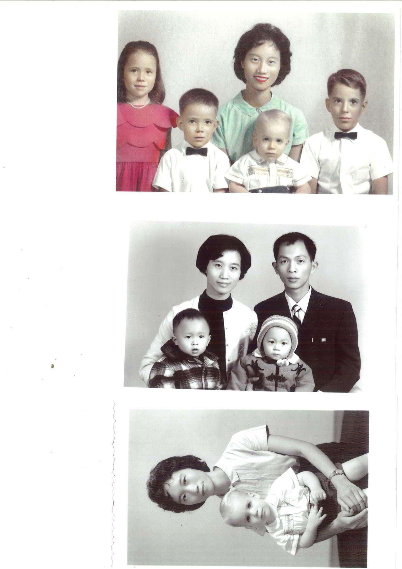 美籍女子Linda拿3張50年多前的合照,來台尋找當年照顧她的台籍婦人陳月嬌。圖...