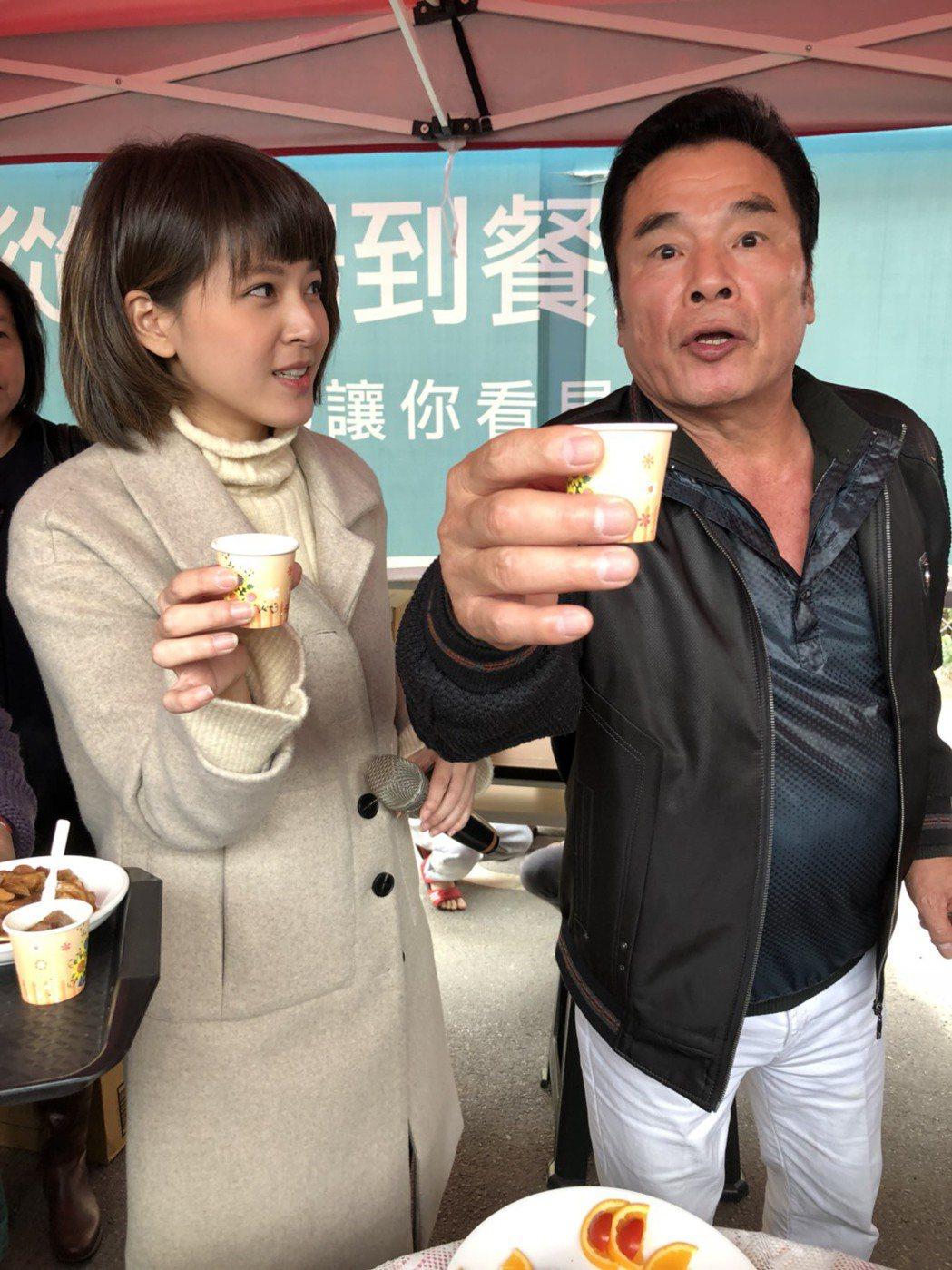 雷洪、蘇晏霈在「幸福來了」演出。圖/民視提供