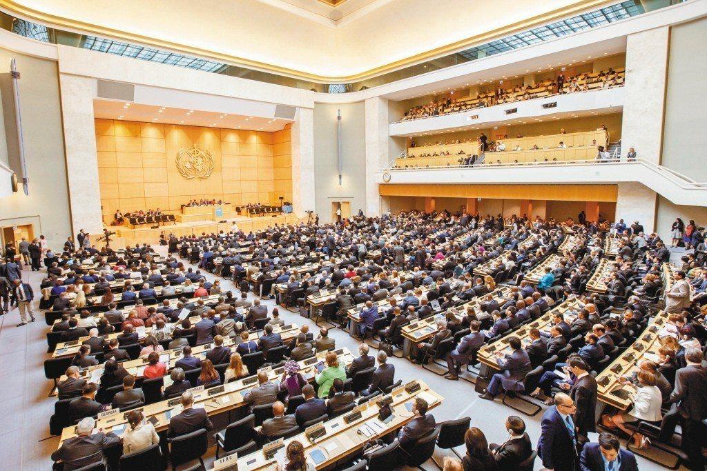 圖為2017年第七十屆世界衛生大會在日內瓦的聯合國歐洲總部召開。美聯社