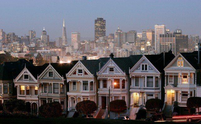 圖為舊金山灣區附近的住宅。 美聯社
