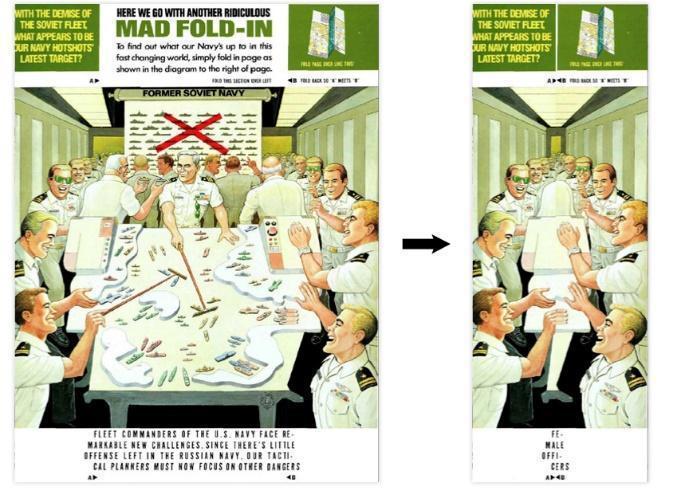 (圖為Mad Fold-In,是個在1970-90年代很受歡迎的美國兒童雜誌。每...