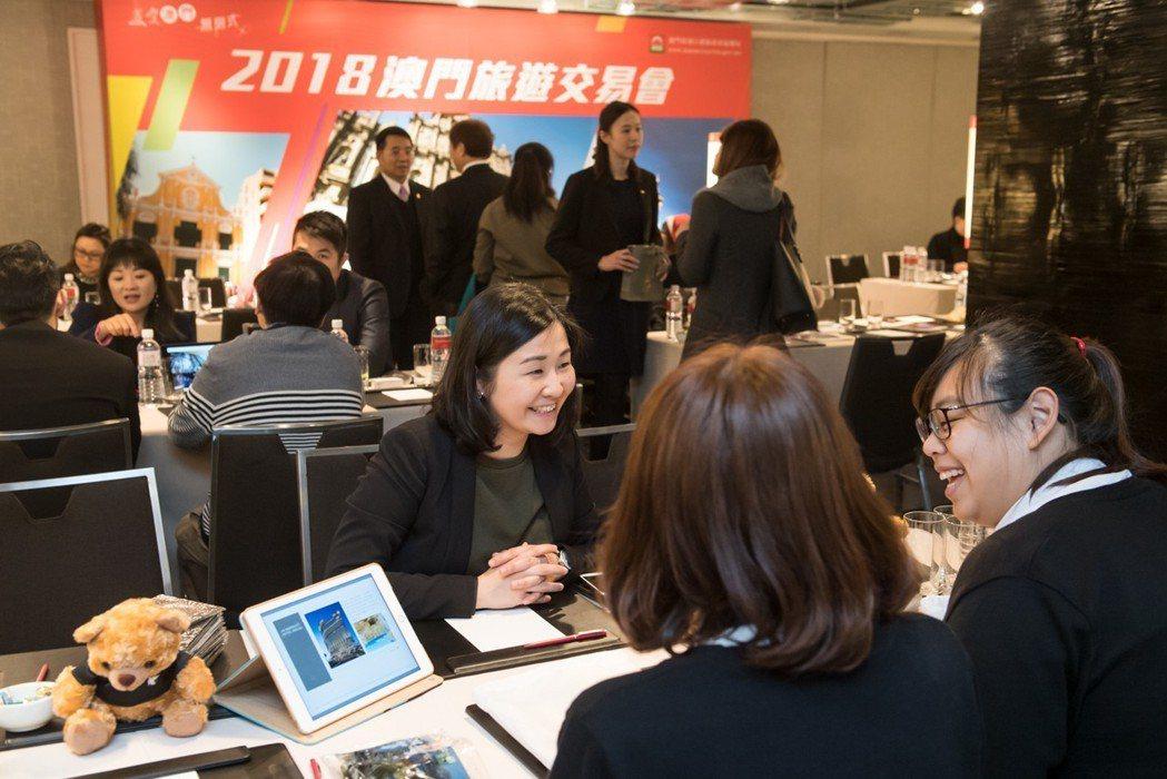 22家澳門旅遊業者來台灣參加活動,與台灣業界及媒體進行交流。 澳門旅遊局/提供
