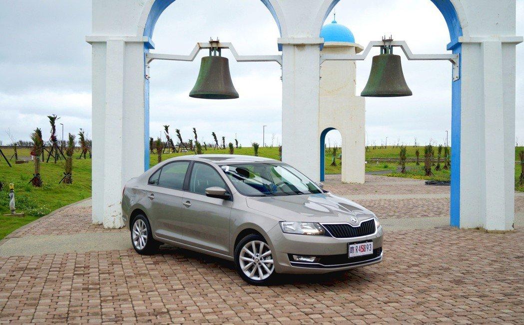 2018年式小改款Škoda Rapid。 記者趙駿宏/攝影