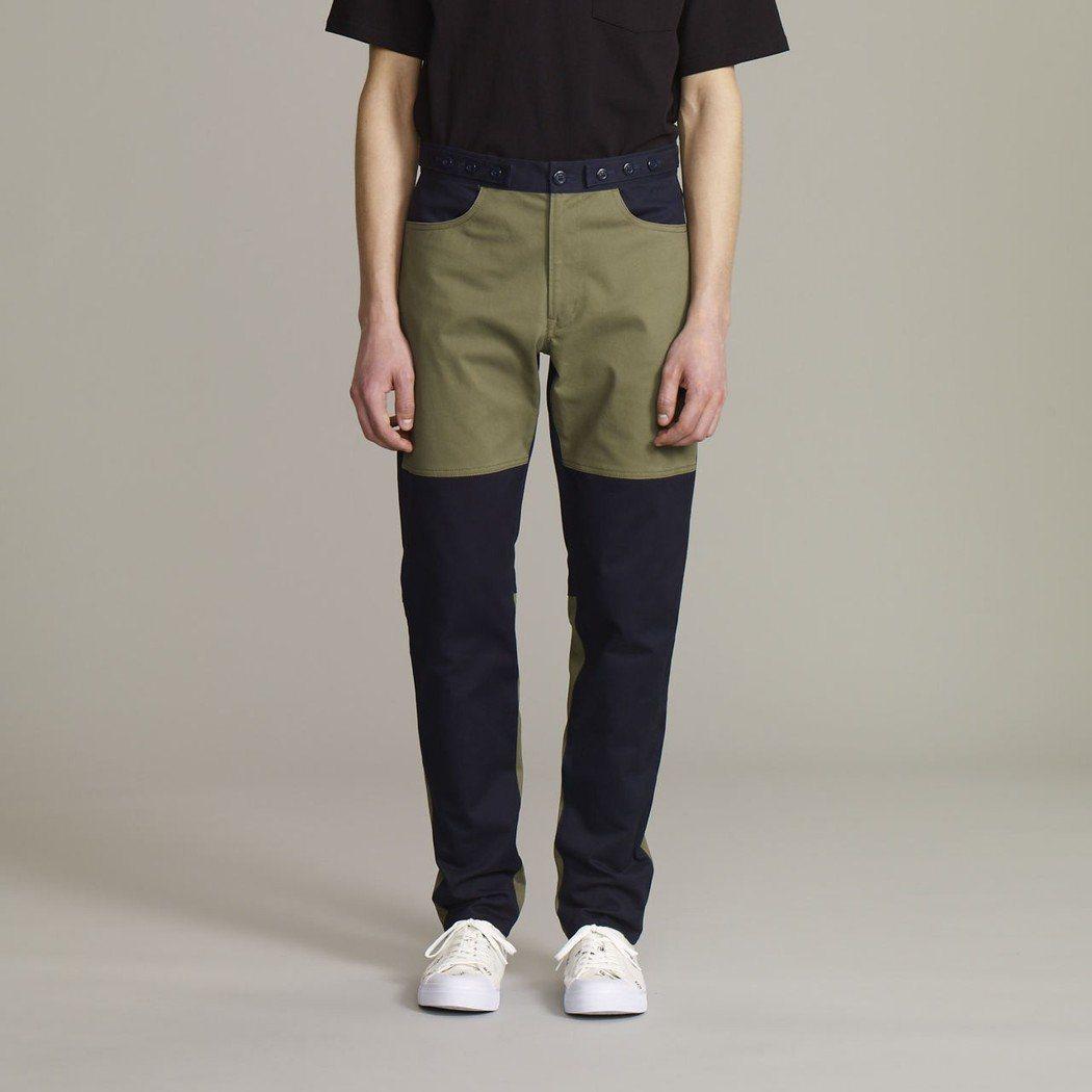 Kim Jones與GU合作系列的男裝合身窄管褲。圖/GU提供