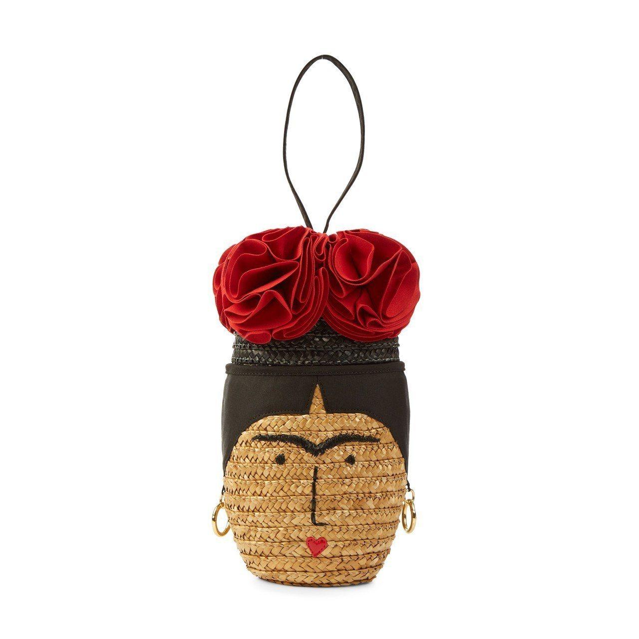 Frida系列花籃手腕包,13,800元。圖/Lulu Guinness提供