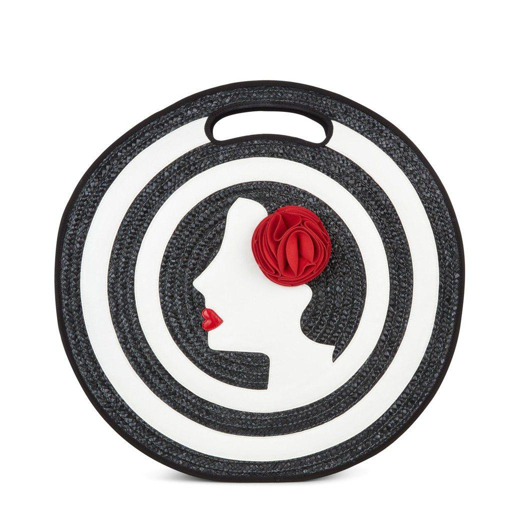 飛吻女伶系列手提圓包,9,280元。圖/Lulu Guinness提供