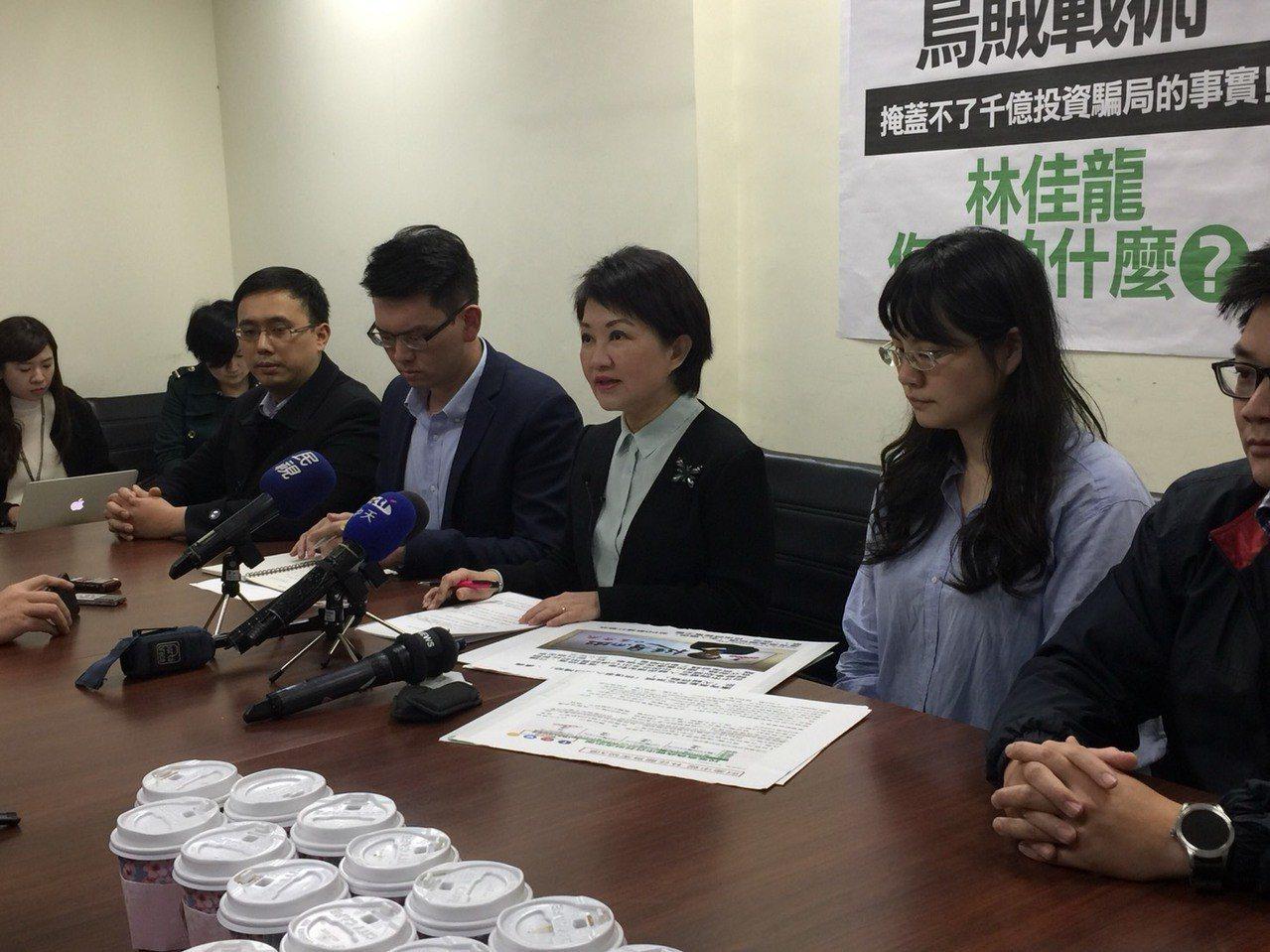 國民黨立委盧秀燕下午舉行記者會。記者鄭媁/攝影