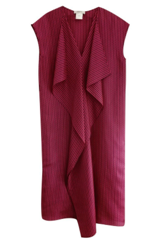 DOUCHANGLEE優雅V領垂墜飾片絲質洋裝原價9,680元,特價2,904元...