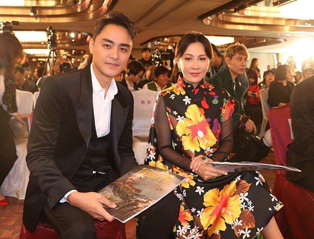 明道與劉嘉玲在香港國際電影節重逢。圖/明道工作室提供