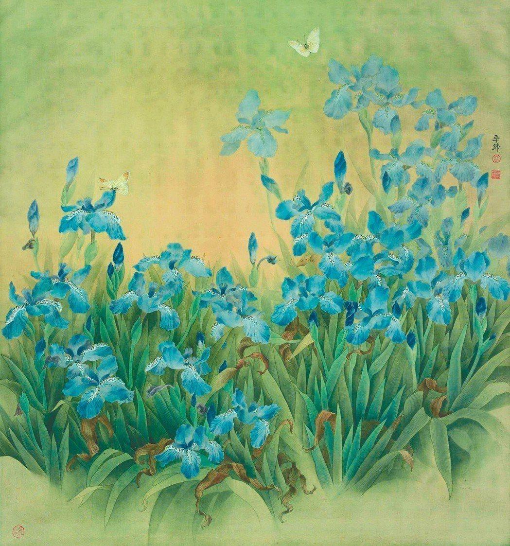 圖五:林季鋒〈藍色鳶尾花〉。