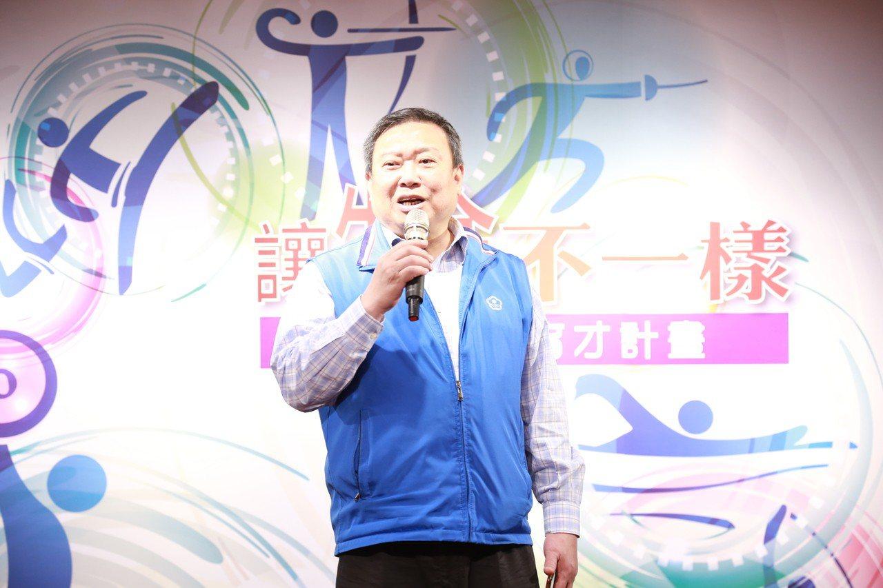運動菁英育才計畫去年啟動,中華奧會主席林鴻道。 報系資料照