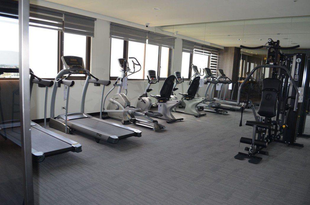 健身房。  陳慧明 攝影