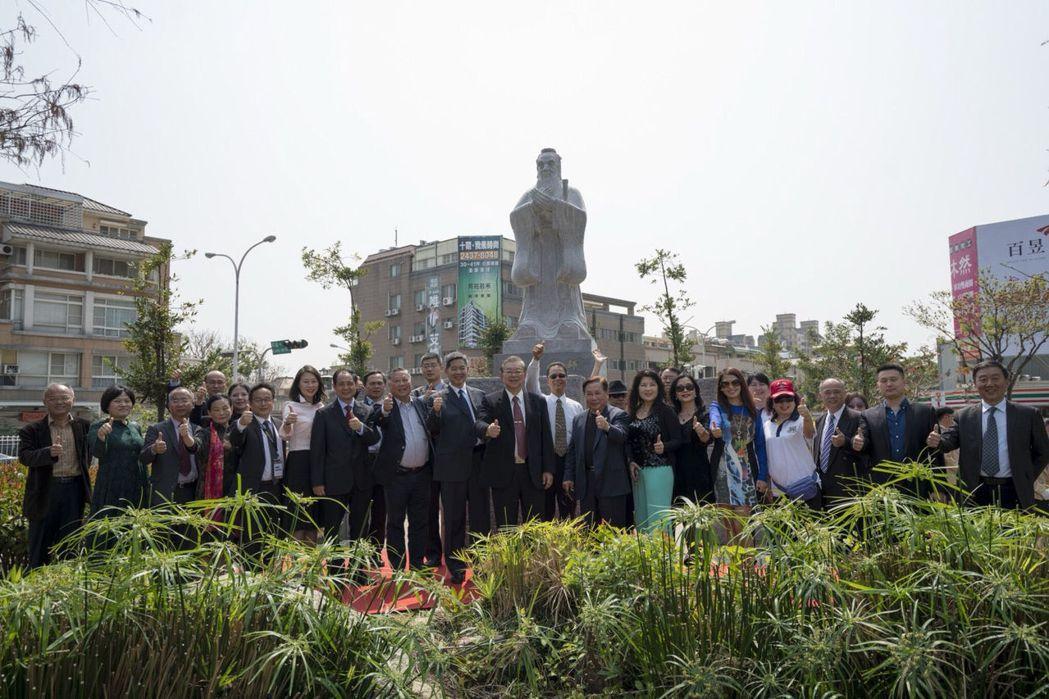 孔子聖像揭牌儀式 葳格國際學校/提供