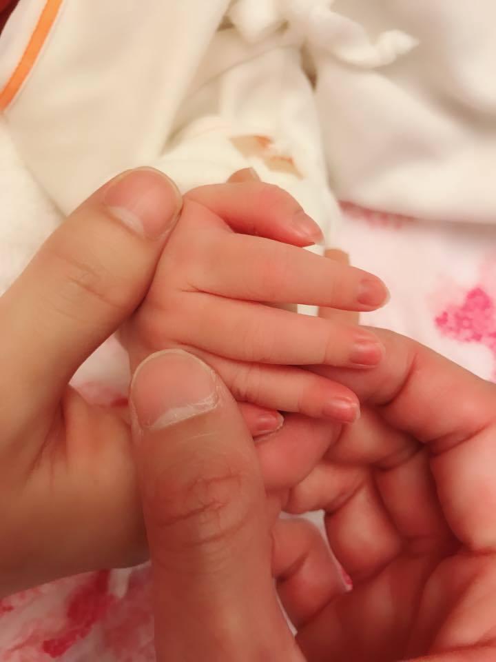 楊千霈順利產下女兒。 圖/摘自臉書