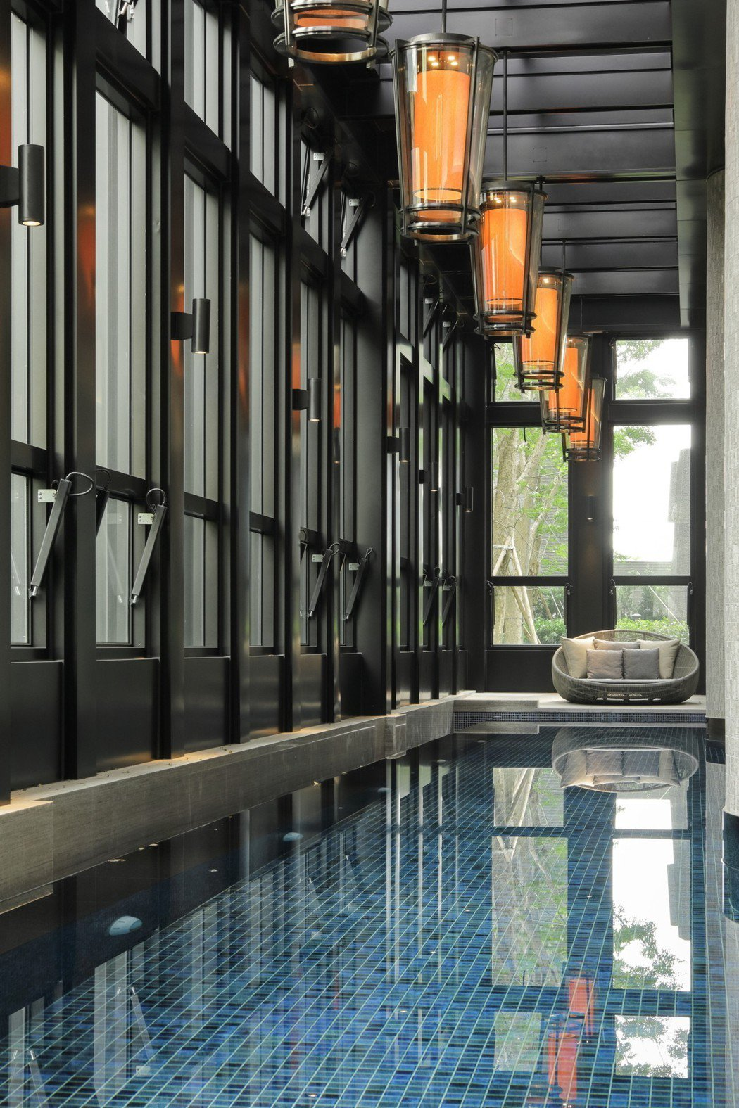 游泳池是「御寶」公設另一處精采。 圖片提供/皇苑建設