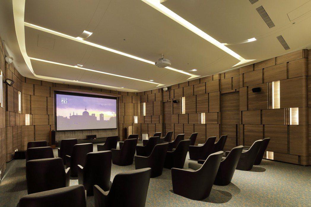 皇苑規劃的全景聲電影院。 圖片提供/皇苑建設