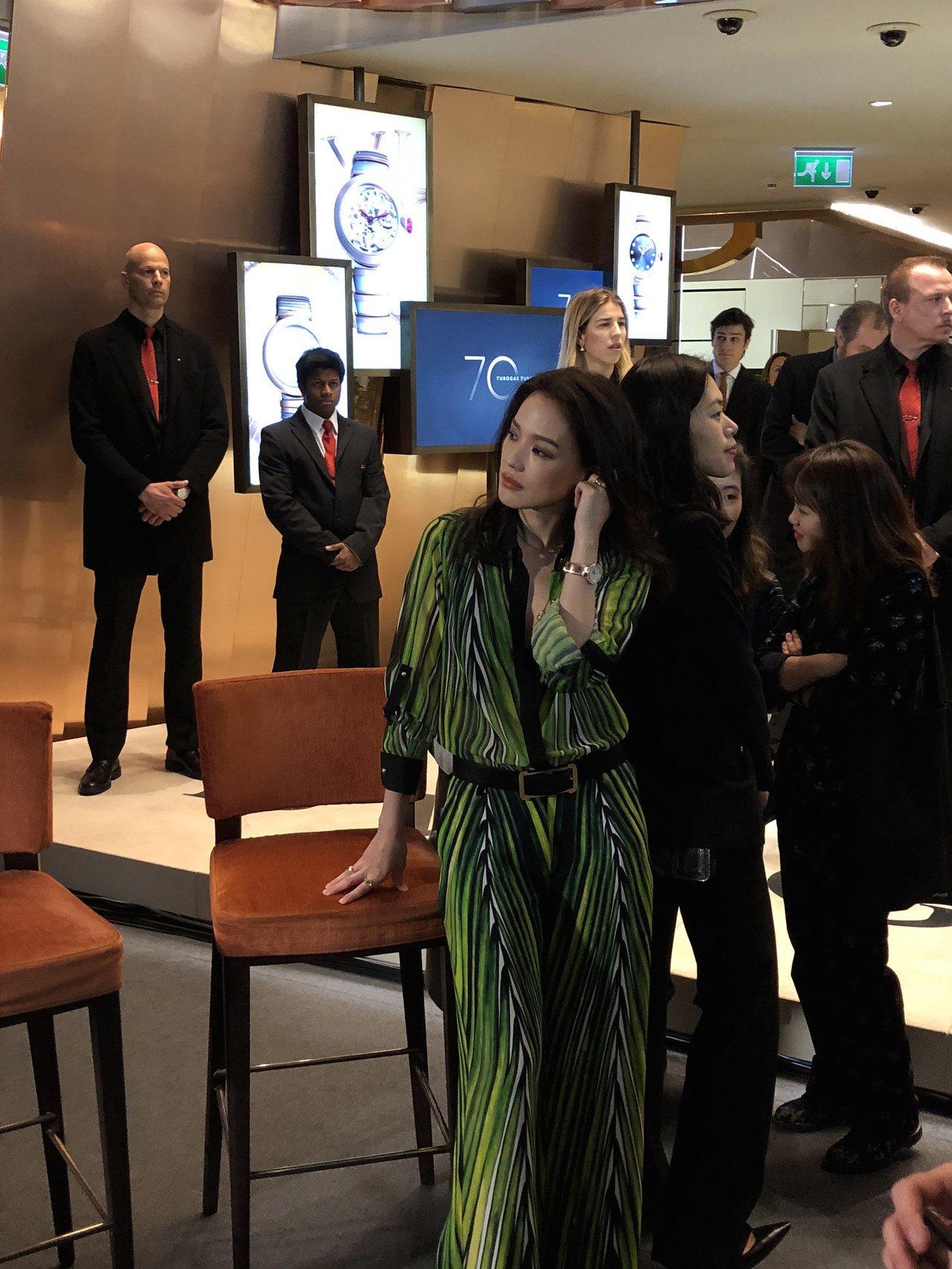 舒淇受到寶格麗邀請,出席新款腕表全球記者會。記者曾智緯/攝影