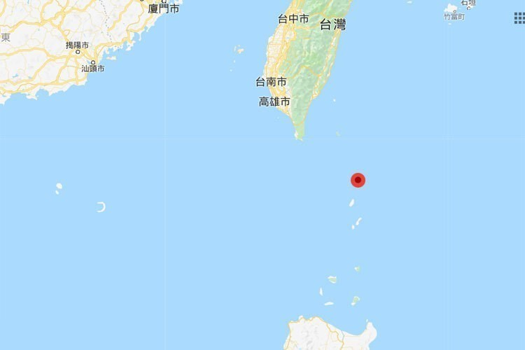 菲律賓宣布將於4月起在菲律賓最北端小島雅米島(紅點處)興建海事基地。 圖/擷取自...