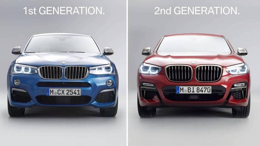 新世代的X4車頭,因為在加大的雙腎形水箱護罩加持後,看來更為有殺氣。 摘自BMW影片