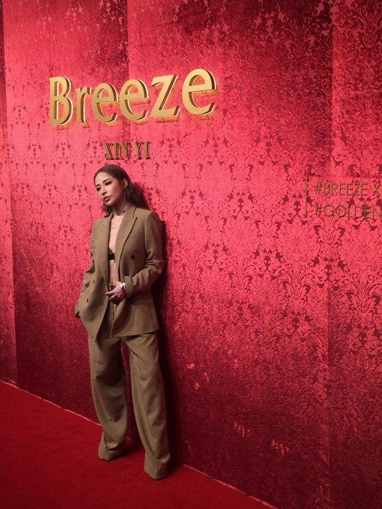 蕭亞軒去年出席微風之夜。圖/記者孫曼攝影
