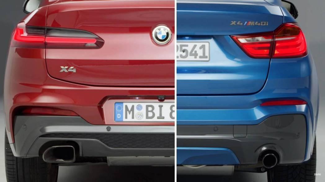 新世代X4尾燈也採用了3D雕塑設計。 摘自BMW影片