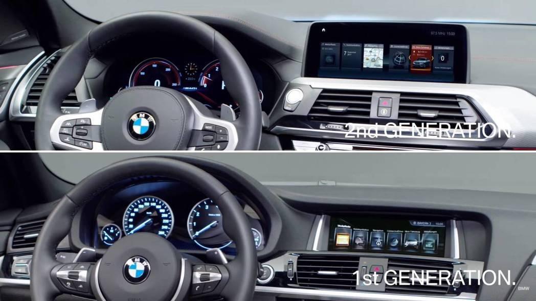 全新BMW X4內裝也做了升級。 摘自BMW影片
