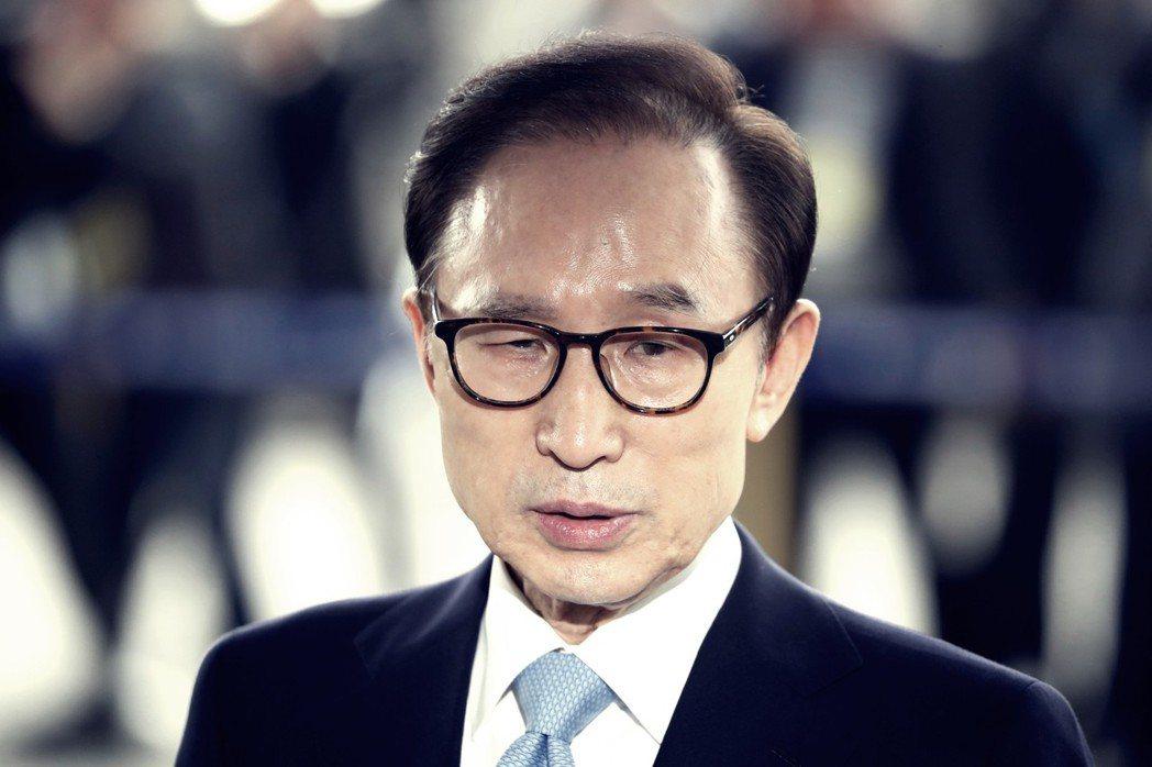 2018年3月14日,曾於2008到2013年擔任南韓總統的李明博,來到首爾中央...