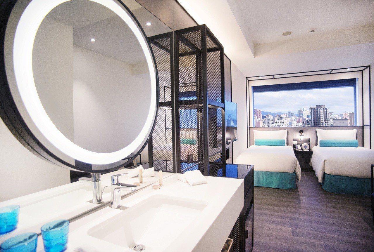 凱達大飯店輕工業風精緻客房。圖/凱達大飯店提供