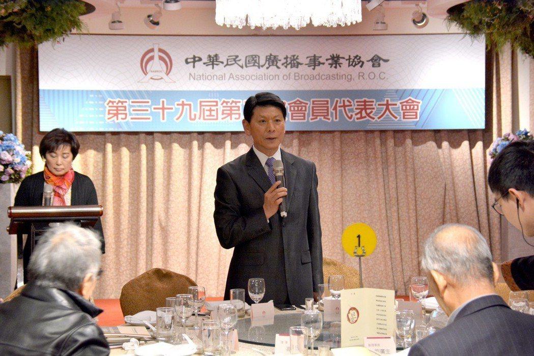 中華民國廣播事業協會理事長劉本善主持會員代表大會。