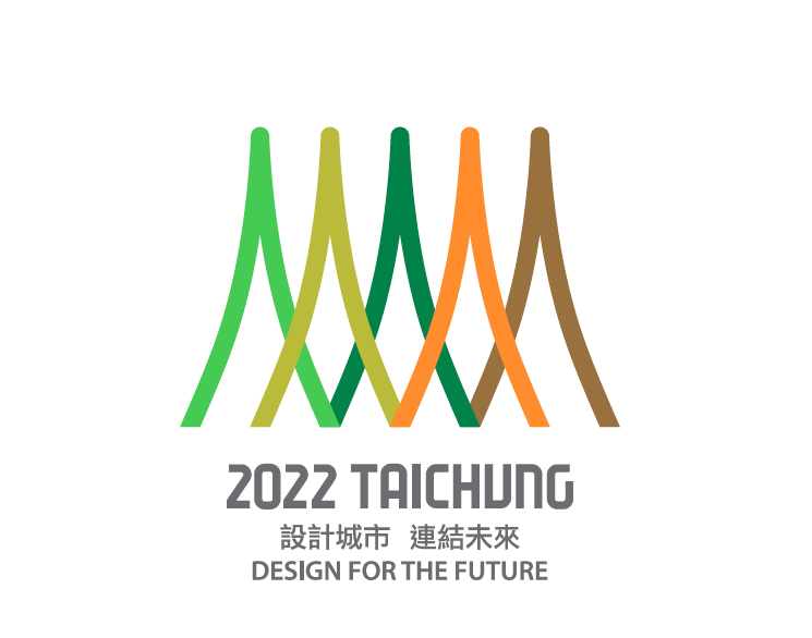 台中市要申辦2020「世界設計之都」的主視覺,由李根在老師設計,從台中地標湖心亭...
