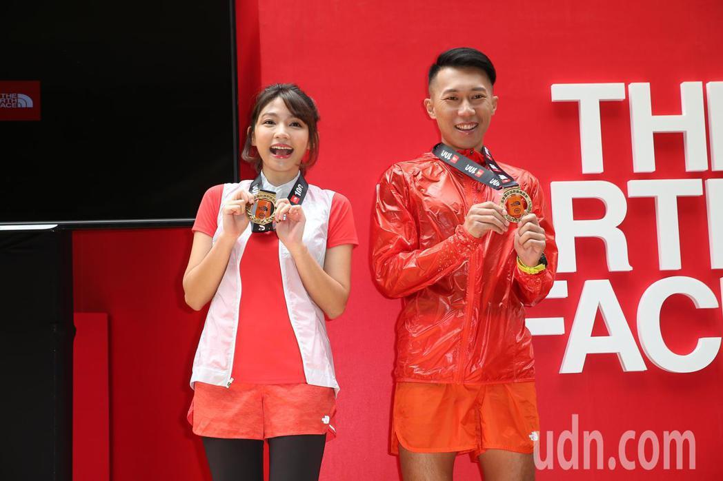 曾智希(左)與四大極地賽冠軍陳彥博(右)邀請眾人培養突破自我的勇氣,屆時一同體驗...