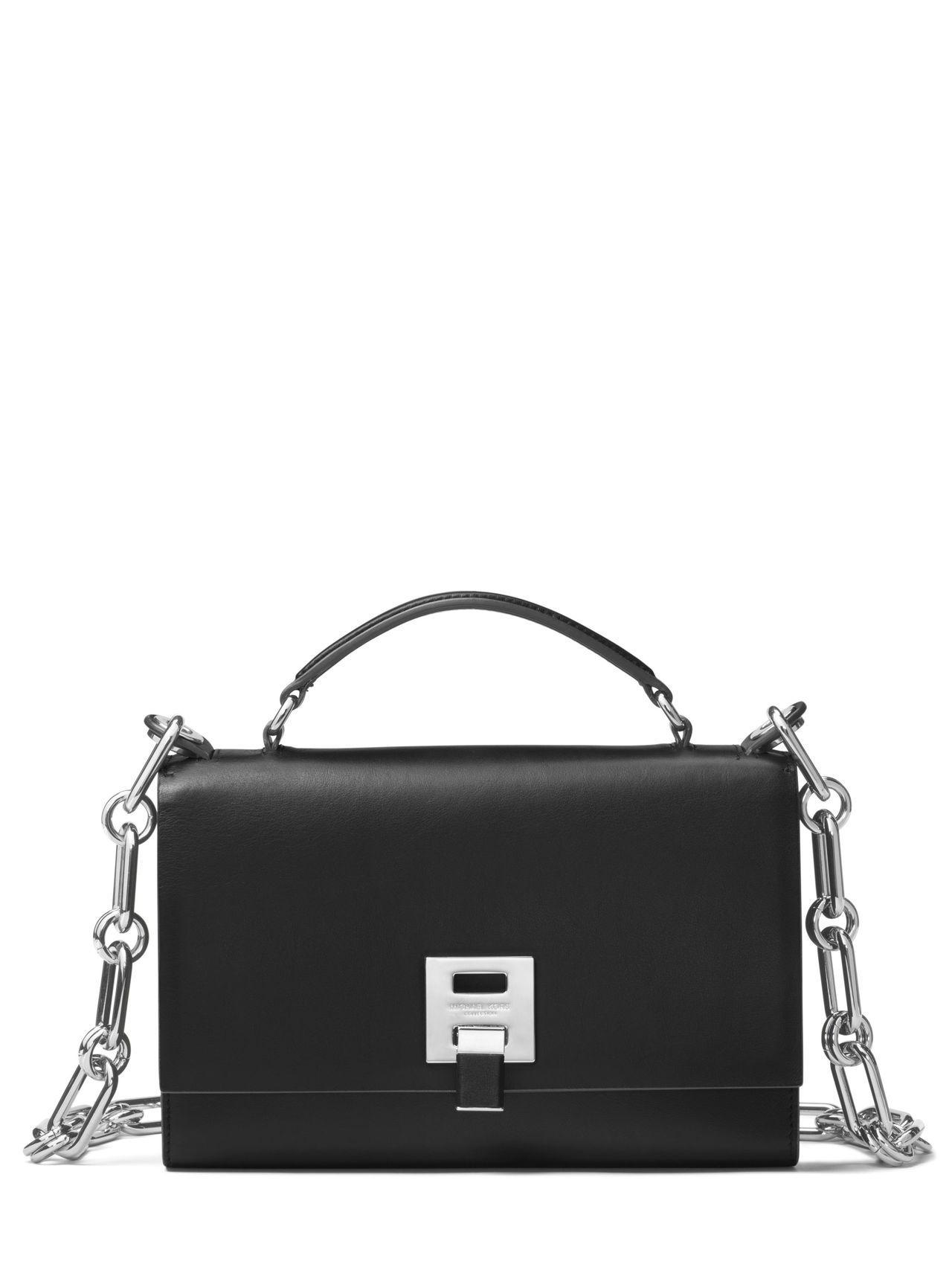 Bancroft黑色義大利牛皮鍊包,售價34,800元。圖/MICHAEL KO...