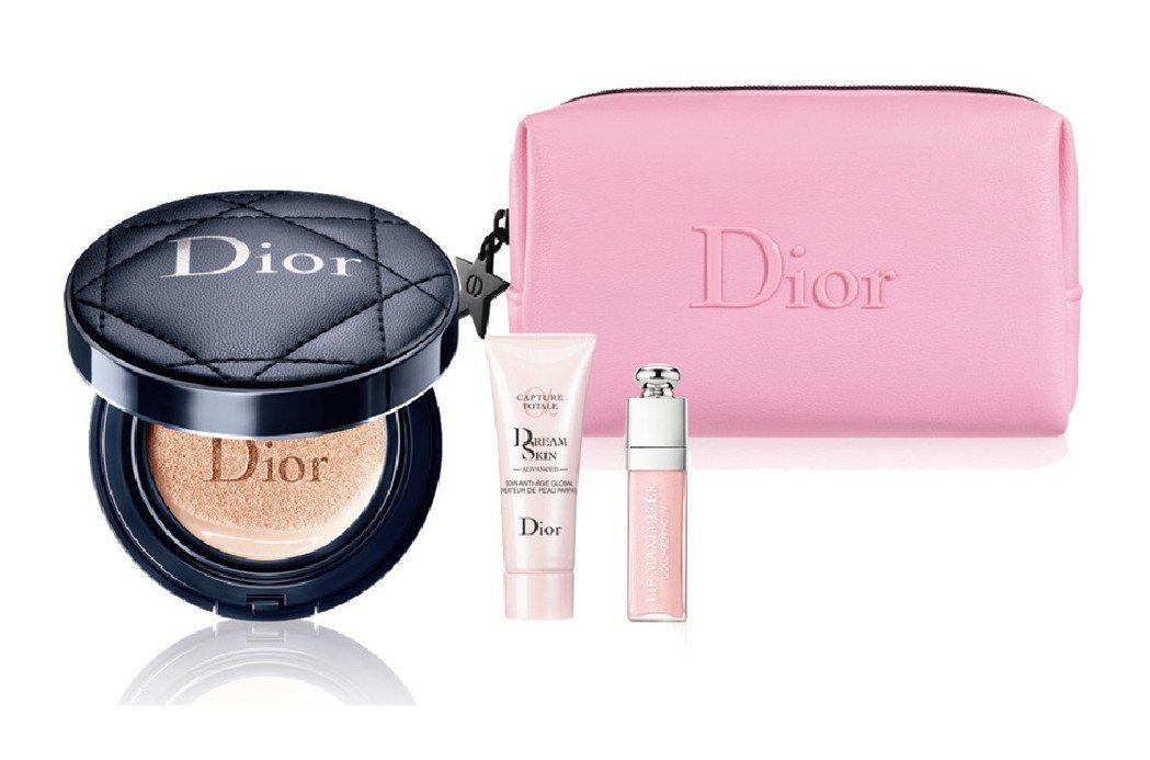 板橋大遠百Dior超完美持久氣墊粉餅皮革質感訂製組售價2,050元,限量30組。...