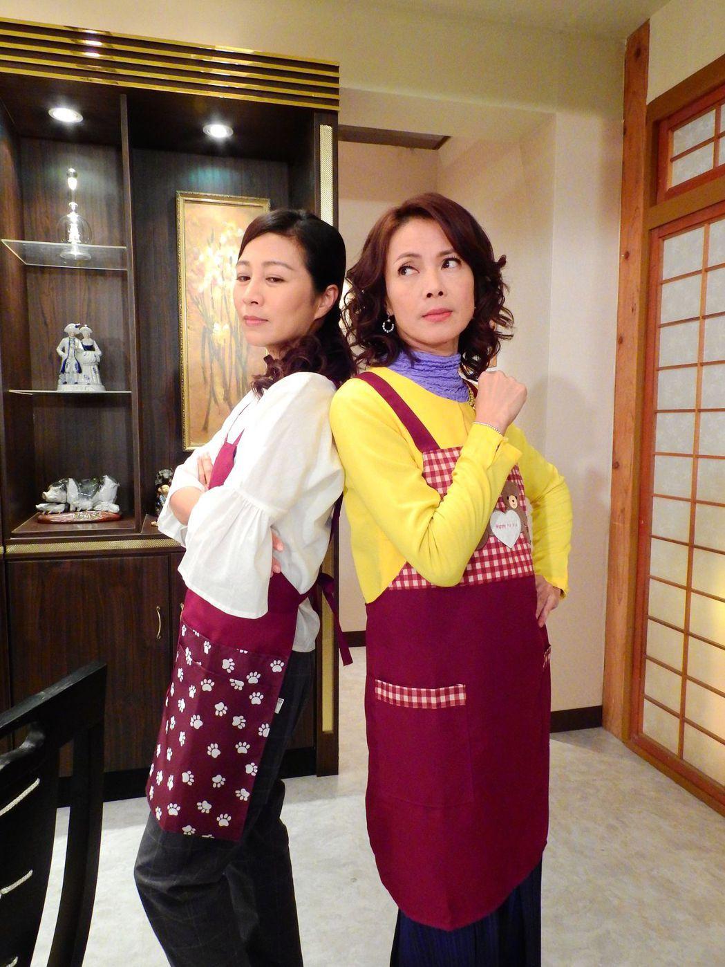 柯淑勤(右)、方文琳戲中PK廚藝。圖/台視提供