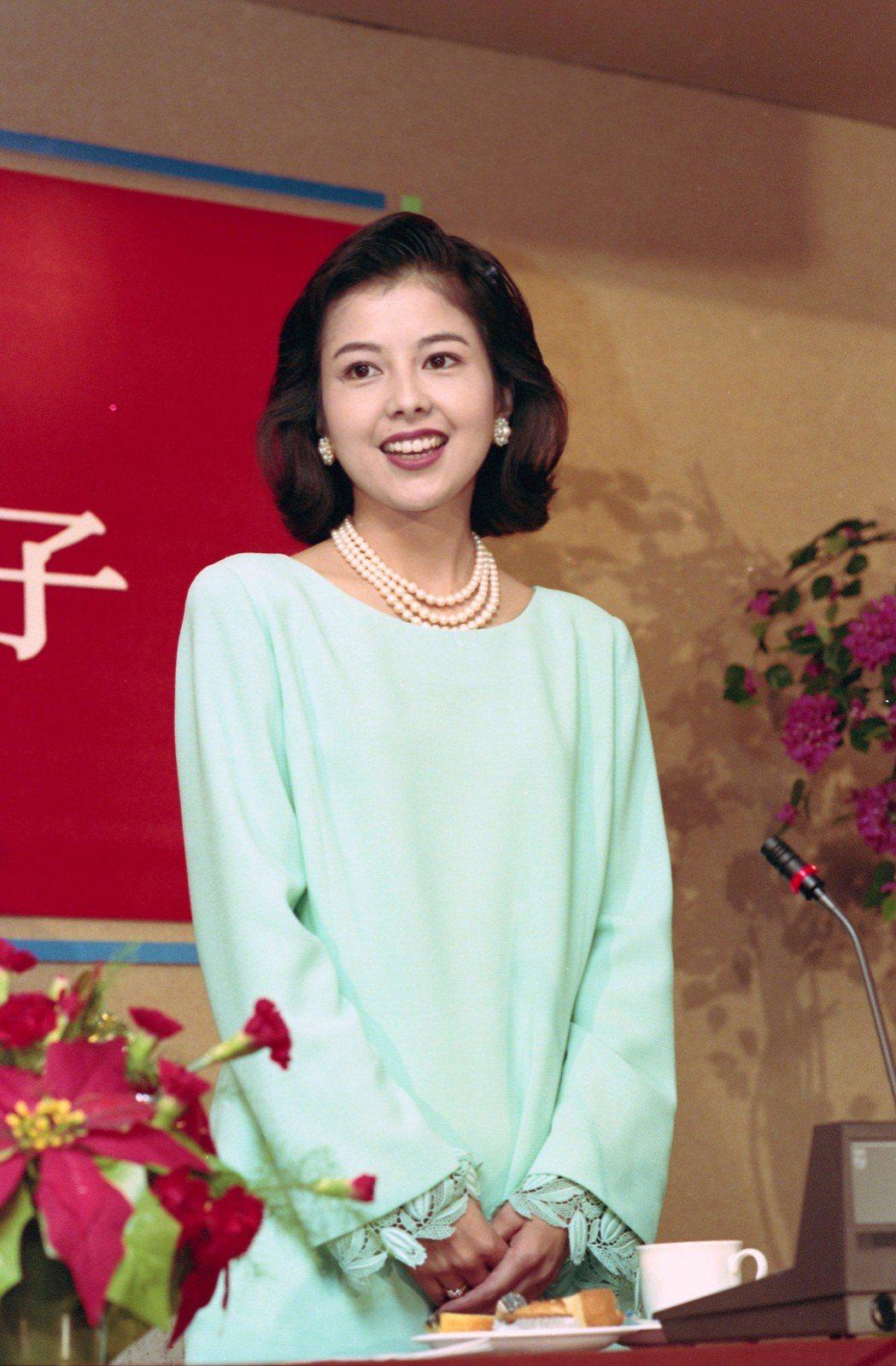 澤口靖子曾來台宣傳日劇「阿香」,倩影令人難忘。圖/報系資料照片
