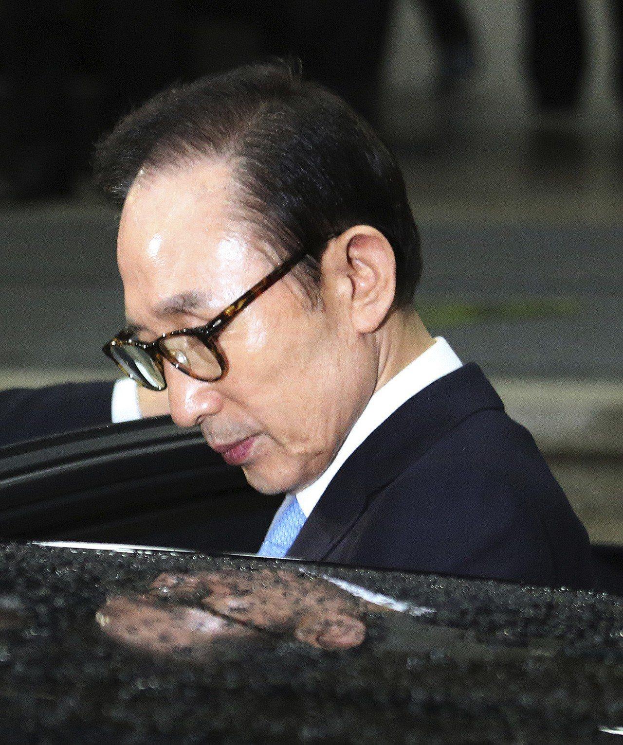 南韓前總統李明博。美聯社