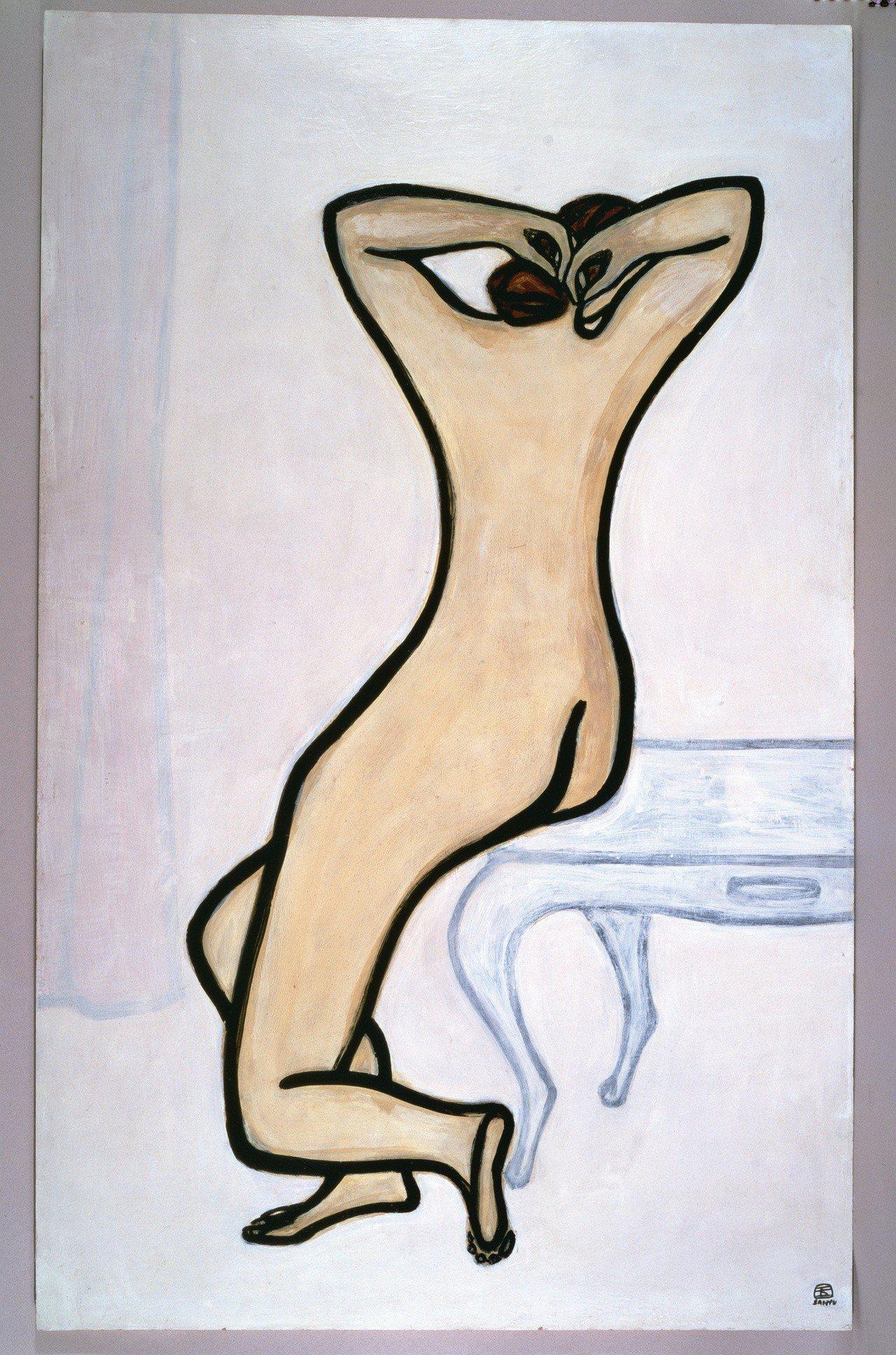 常玉「入浴」。圖/耿畫廊提供