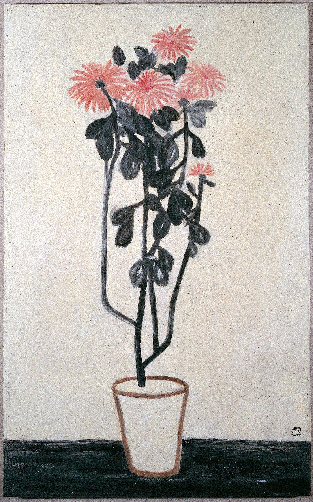 常玉「盆菊」。圖/耿畫廊提供