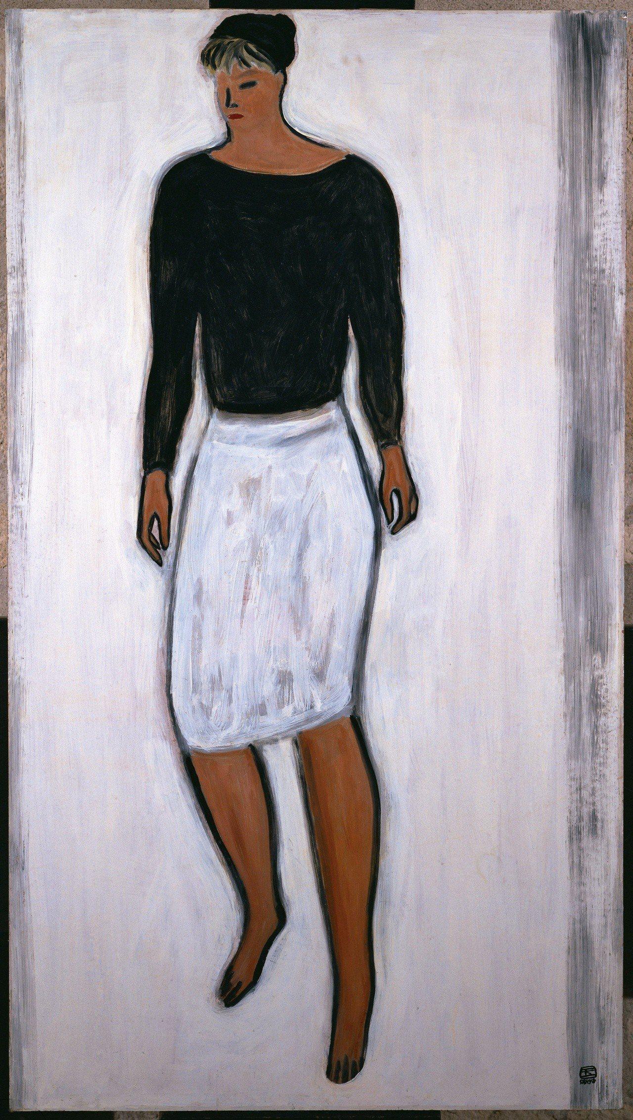 常玉「白裙女子」。圖/耿畫廊提供